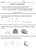 Common Core Final Assessment- Kindergarten