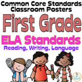 Common Core First Grade ELA Posters (I can...) Melonheadz Edition