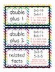 Common Core First Grade Envision Math Vocabulary Cards