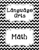 Common Core First Grade I Can Statements-ELA & Math-Chevron Themed
