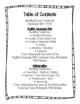 Common Core First Grade I Can Statements-ELA & Math-Polka Dot Themed