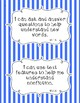 Common Core First Grade I Can Statements-ELA & Math-Stripes Themed