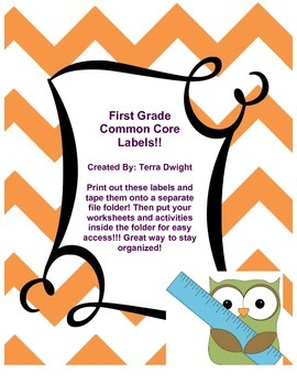 Common Core Labels First Grade
