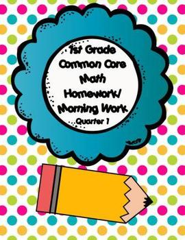Common Core First Grade Language Arts and Math Homework-1s