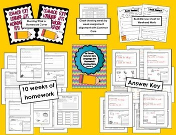 Common Core First Grade Language Arts and Math Homework-Mega Bundle