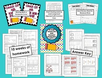 Common Core First Grade Math Homework-2nd Quarter