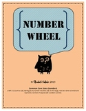 Common Core First Grade Math: Numbers and Base Ten: 1.NBT.A.1: Number Wheel