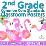 Common Core First Grade Posters - Editable- (Flamingo Beach Edition)