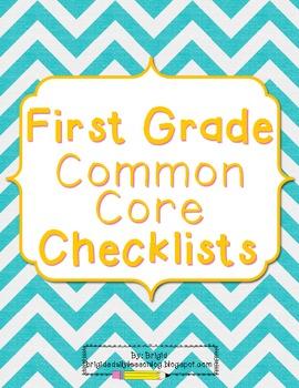 Common Core Language Arts - First Grade Standards Checklists