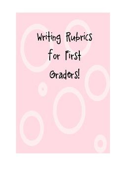 Common Core First Grade Writing Rubrics