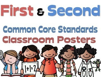 Common Core First and Second Grade Posters  Melonheadz Edi