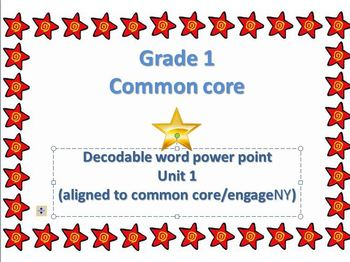 Common Core First grade Decodable words!