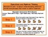 Common Core Flowcharts Grade K:  Operations and Algebraic Thinking