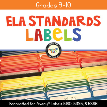 Common Core Folder Labels ELA