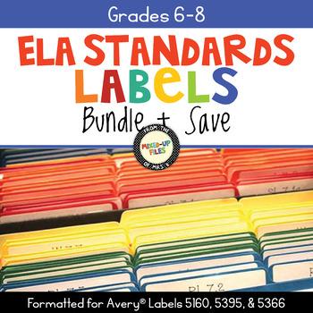 Common Core Folder Labels ELA