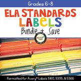 ELA Standards Labels Bundle Grades 6-8