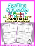 Common Core Foundational Skills Word Work: Phonics & Spelling Homework
