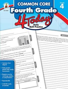 Common Core Fourth Grade 4 Today SALE 20% OFF CD-104821