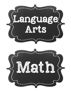 Common Core Fourth Grade I Can Statements-ELA & Math-Chalkboard Themed