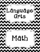 Common Core Fourth Grade I Can Statements-ELA & Math-Chevron Themed