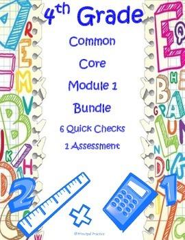 4th Grade Place Value, Addition, Subtraction Assessment Bundle