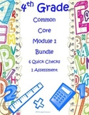 4th Grade Place Value, Addition, Subtraction Assessment Bundle