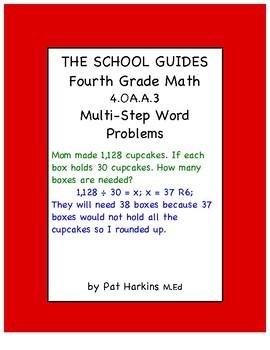 Common Core Fourth Grade Multi-Step Word Problems 4.OA.A.3