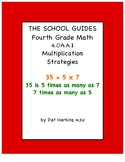 Common Core Fourth Grade Multiplication Strategies 4.OA.A.1