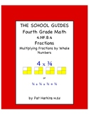 Common Core Fourth Grade Multiplying Fractions by Whole Numbers 4.NF.B.4