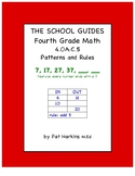 Common Core Fourth Grade Patterns and Rules 4.OA.C.5