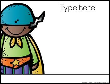 Common Core Fourth Grade Posters -Editable- (Superhero Edition)