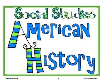 Common Core Fourth Grade Social Studies Posters for Arizona (I can) Modern font