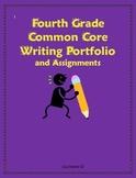 Common Core Fourth Grade Writing Portfolio Checklist and Assignments