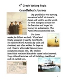 Common Core/PARCC Fourth Grade Writing Prompt:  Grandfather's Journey