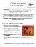 Common Core/PARCC Fourth Grade Writing Prompt:  The Horned Toad Prince