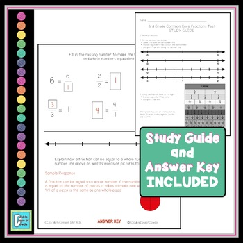 Fraction Common Core Assessment - 3rd Grade