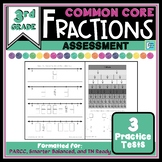 Fraction Tests - 3rd Grade Common Core