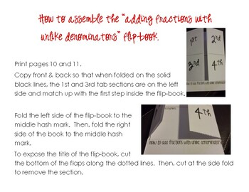 Common Core Fraction Flip-Books for Interactive Notebooks