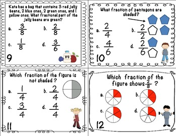 Common Core Fraction Task Cards with and without QR Codes