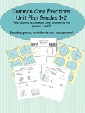Common Core Fraction Unit Grades 1 and 2