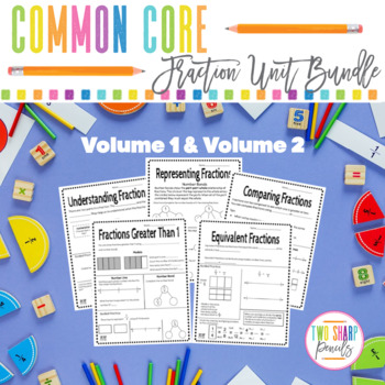 Common Core Fraction Unit: Interactive Notes, Worksheets a