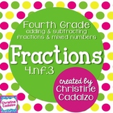 Adding Fractions and Subtracting Fractions 4.NF.3