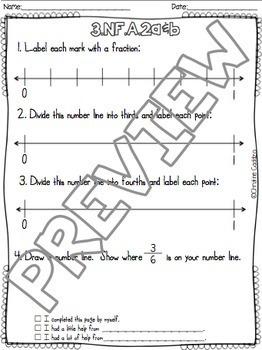 Math Assessments - Third Grade Fractions