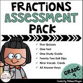 Fractions Assessment Pack Grade 4