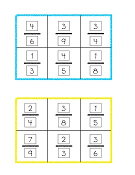 Common Core Fractions Cube Craftivity and Centers Game