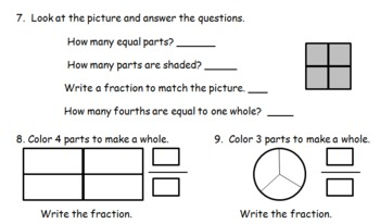 Common Core Fractions & Partitions w/Fraction Shapes Line Plot