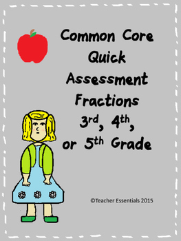 Common Core Fractions Quick Assessment