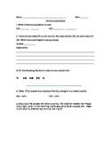 Common Core Fractions Quiz