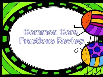 Common Core Fractions Review - Powerpoint