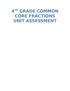 Common Core Fractions Test